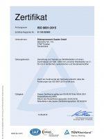 TÜV-Zertifikat ISO 9001-2015