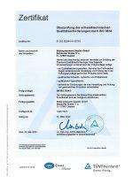 Zulassung EN ISO 3834-3